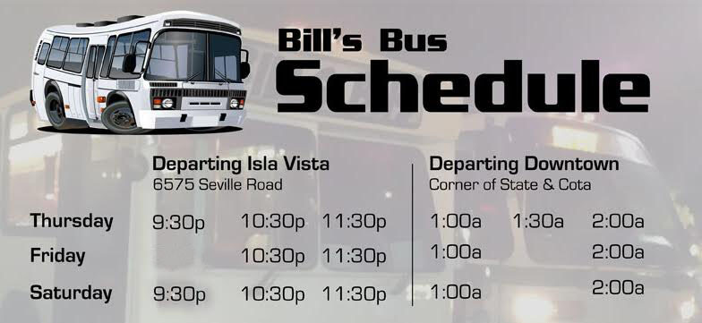 Bill's Bus Route Schedule